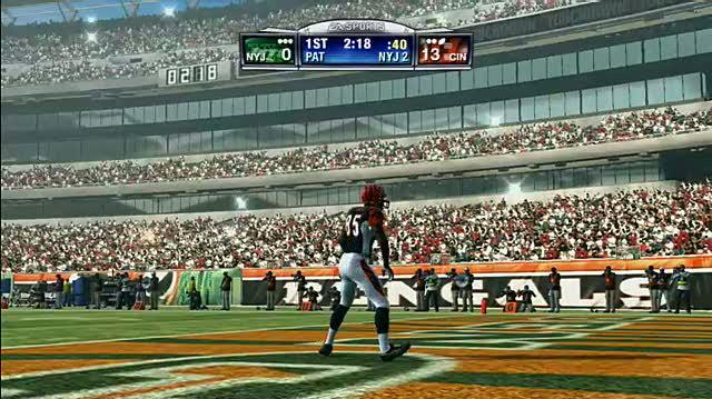 Madden NFL 09 Sports Gameplay - Chad Johnson Celebration