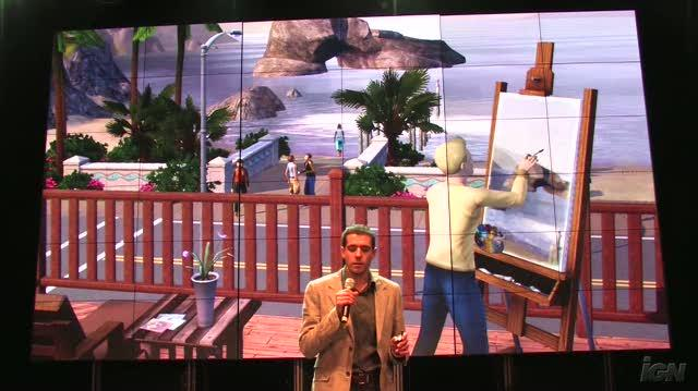The Sims 3 PC Games Feature-Commentary - GC 2008 Demo