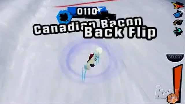 Shaun White Snowboarding Sony PSP Gameplay - Method Back Flip