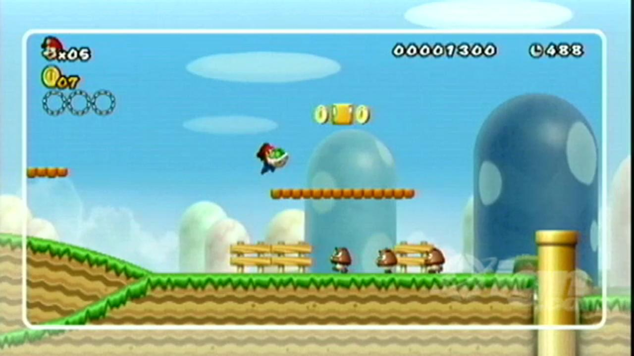 New Super Mario Bros. Wii - Walkthrough- World 1-1 Infinite 1-Ups