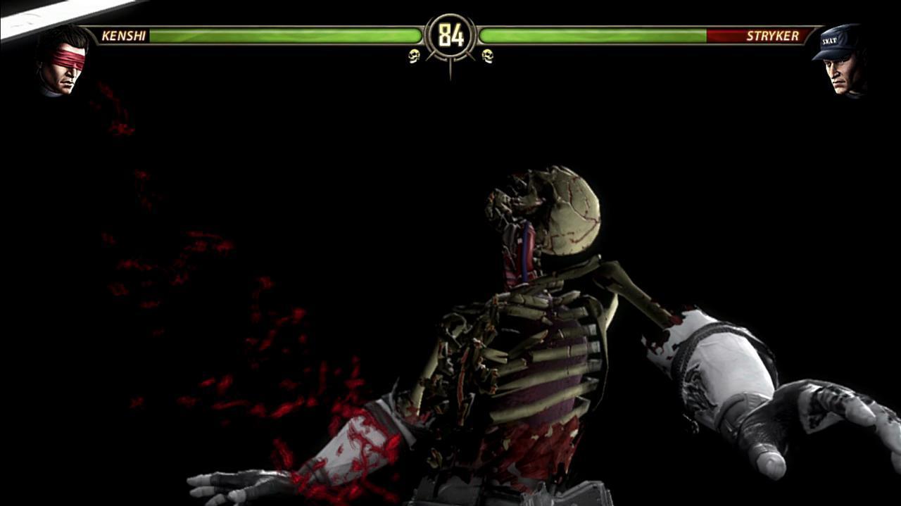 Mortal Kombat Kenshi Cuts Stryker Down
