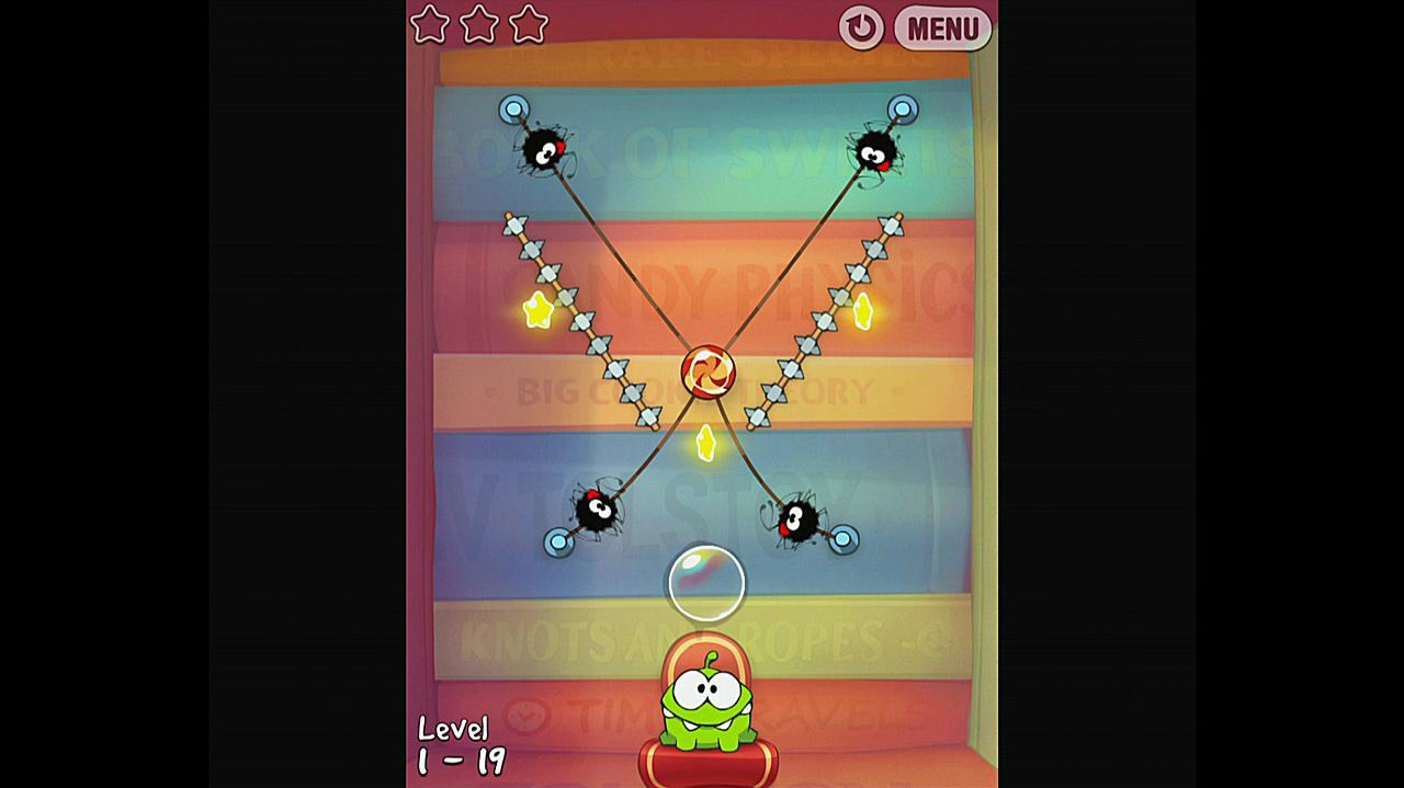 Cut the Rope Experiments Getting Started 1-19 Walkthrough