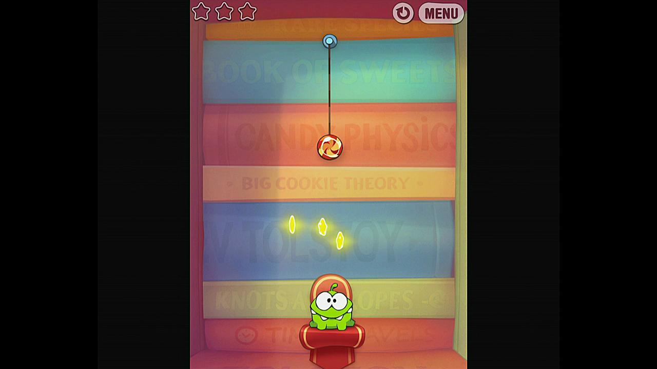 Cut the Rope Experiments Getting Started 1-1 Walkthrough