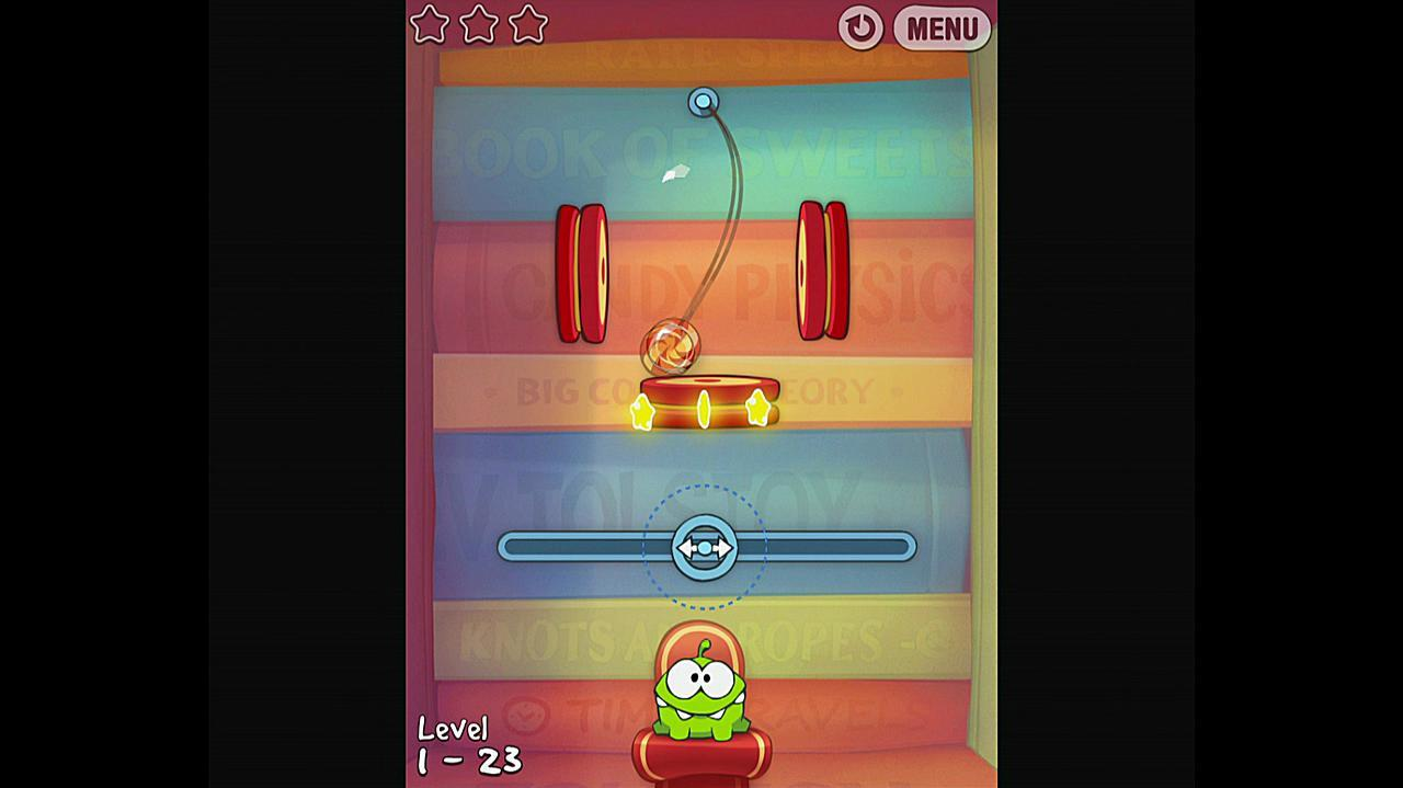 Cut the Rope Experiments Getting Started 1-23 Walkthrough
