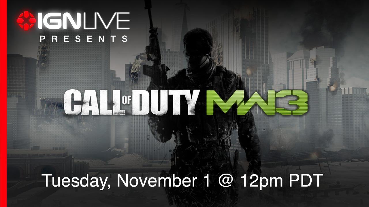 IGN Live Presents Modern Warfare 3