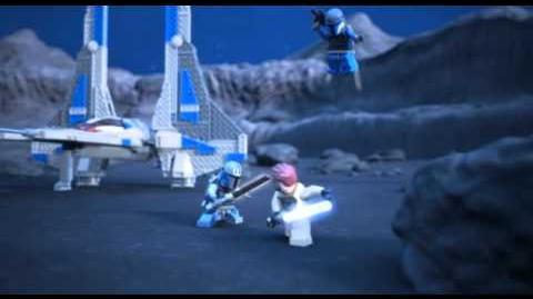 Lego 9525 Pre Vizsla's Mandalorian Fighter - Lego 3D Review