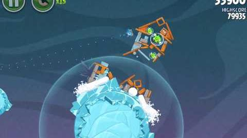 Angry Birds Space 2-24 Cold Cuts 2-24 Level 2-24 3 Stars Walthrough Tutorial