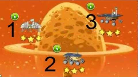 ALL Golden Eggsteroids E-R1 E-R2 E-R3 Angry Birds Space Red Planet Location and Solution