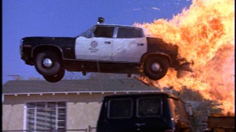 Grand Theft Auto (1977) - Clip Police Car on Fire