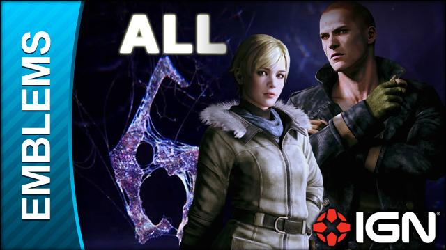 Resident Evil 6 All Emblems in Jake's Campaign