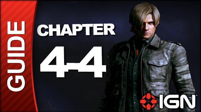 Resident Evil 6 Leon Kennedy Campaign Walkthrough - Chapter 4 pt 4