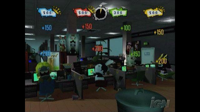 Rayman Raving Rabbids 2 Nintendo Wii Gameplay - Don't Get Caught Goofing Off