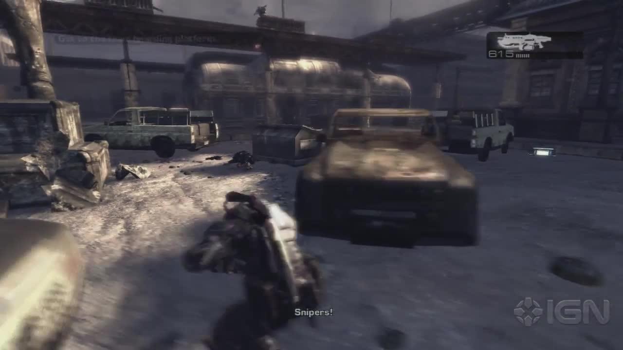 Gears of War - Boarding The Train- Gameplay