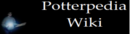 Potterpedia Wiki Wordmark - Harry with Lit Wand.png