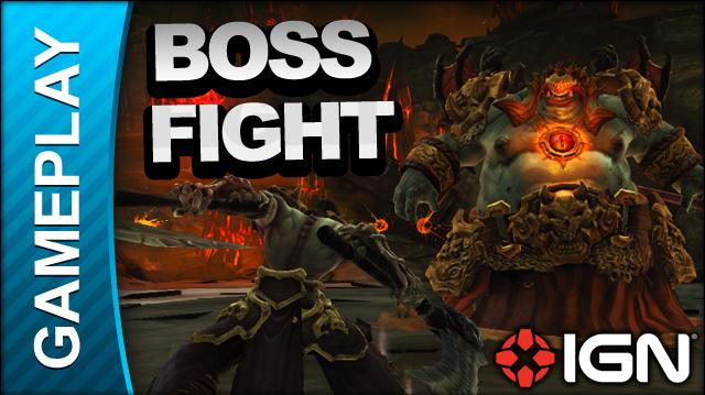 Darksiders 2 - The Demon Lord Belial Boss Fight - Gameplay