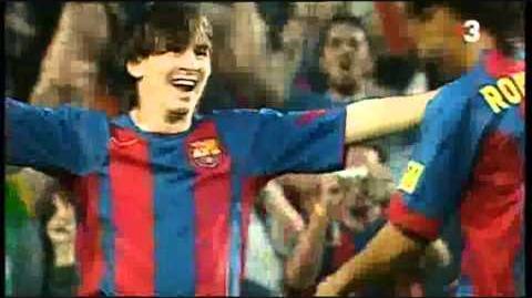 El Primer gol de Messi Con la camiseta blaugrana