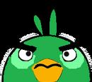 Green bomb bird