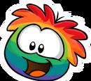 Rainbow Puffle Pin