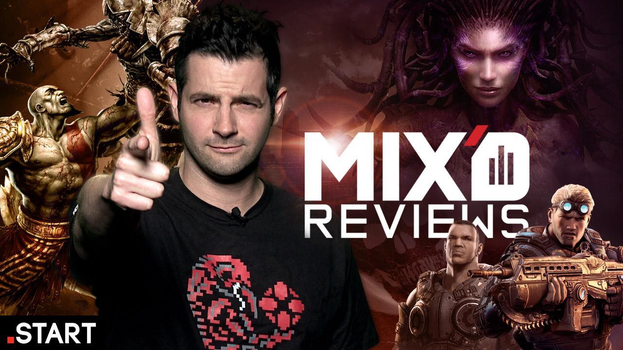 Gears of War, God of War, StarCraft II Mix'd Reviews