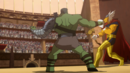 Bruce Banner (Earth-10022) and Beta Ray Bill (Earth-10022) from Planet Hulk (film) 0002.png