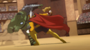 Bruce Banner (Earth-10022) and Beta Ray Bill (Earth-10022) from Planet Hulk (film) 0001.png