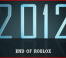 2012: End of Roblox
