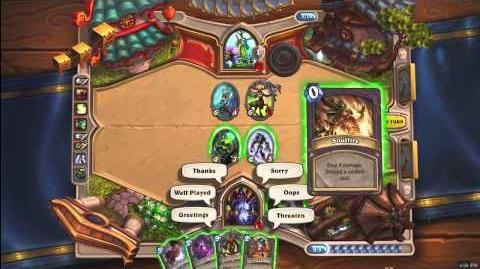 Hearthstone Heroes of Warcraft - Fireside Duel (Druid v Warlock)