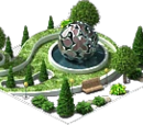 Park with a Metal Sphere