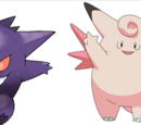 Gengar e Clefable