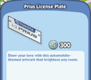 Prius License Plate