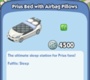 Prius Bed With Airbag Pillows