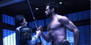 Shingen Yashida (Earth-10005) and James Howlett (Earth-10005) from The Wolverine (film) 0001.png