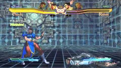 Chun-Li's Super Art and Cross Assault in Street Fighter X Tekken