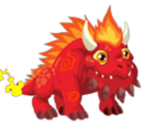 Flaming Rock Dragon