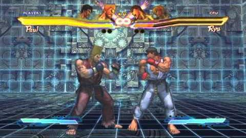 Paul performing his Super Art and Cross Art in Street Fighter X Tekken