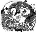 Odin, Sleipnir, Geri, Freki, Huginn and Muninn by Frølich.jpg