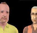 Sims que amam a comida bolo de frutas