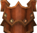 Escudo retangular dragônico