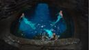 Nixie, Lyla, and Sirena sitting in the Moon Pool.jpg