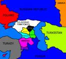 Political Map of the Caucasus