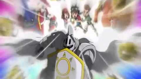Digimon Xros Wars Shoutmon X4 Knight