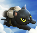 Black Jetpack Cat