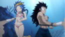 Gajeel and Levy Feeding the Fishes.png