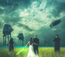Brandon Rhea/Epic Star Wars Wedding Photo