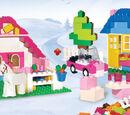 5560 Grande boîte rose de briques