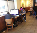 At Starbucks, you don't usually see a computer this big