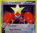 Team Aqua's Crawdaunt (Team Magma Vs. Team Aqua 2 TCG)