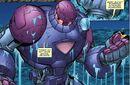 Crosta (Earth-616), Juston Seyfert (Earth-616), and Sentinel (Juston) (Earth-616) from Avengers Academy Vol 1 30 0001.jpg