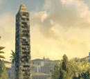 Obelisk otoczony murem