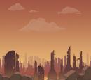 War-torn city